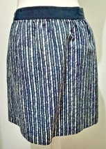 Ann Taylor Loft Straight Pencil Skirt Size 6 Dark Blue Geometric Pattern... - $13.99