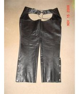 Classic Gear Black Leather Men's Chaps  XL - $55.00