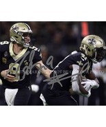 DREW BREES AND ALVIN KAMARA SIGNED AUTOGRAPHED 8X10 RPT PHOTO NEW ORLEAN... - $17.99