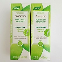 2-Aveeno Positively Radiant Maxglow Infusion Drops Hypoallergenic 1.35 o... - $15.99