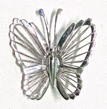 Vintage Siam Sterling Silver Butterfly Brooch Pin - $16.95