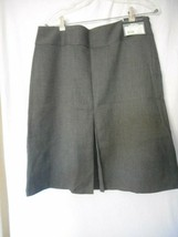 NWT Size 12  Geoffrey Beene lined Boot skirt Skirt Grey Retail $50 - $34.64