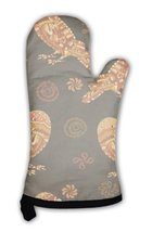 Oven Mitt, Ethnic Pattern With Parrots - $24.50+