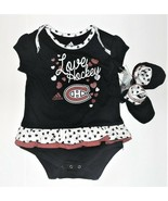 Adidas NHL Apparel Infant Girls Montreal Canadiens Bodysuit Booties Size... - $14.54