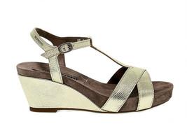 Sandalo con tacco MEPHISTO BATIDA O in pelle oro - Scarpe Donna - $159.89