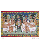 SHREE NATH JI WALL PAINTING INDIAN ART HAND PAINTED INDIAN ART WALL DECO... - $319.40