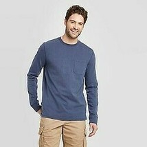 Goodfellow & Co™ Mens Standard Fit Long Sleeve Crew Neck T-Shirt Size Small NEW! image 1