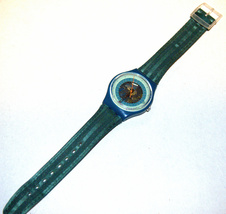 SWATCH Stop SSB100 Jess' Rush 1993 Swiss Made Wristwatch Rubber Strap Vintage image 6