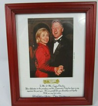 """SIGNED """"AUTOGRAPHED"""" Picture HILLARY & BILL CLINTON AUTOPEN Red Framed P... - $41.73"""