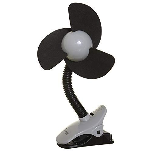 Dreambaby Deluxe EZY-Fit Clip on Fan with Soft Fins - Perfect for Strollers, Cri