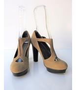 Platform Pumps T Strap Mary Jane B Makowsky Verona Stacked Heel Shoes 6 ... - $35.64