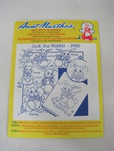 Vintage Aunt Marthas Embroidery Transfers #3980 Jack The Rabbit - $6.44