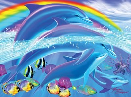 White Mountain Puzzles Dolphin Rainbow Dream - 100 Piece Jigsaw Puzzle - $22.64