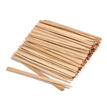 100 Ct. Small Wooden Waxing Applicator Sticks for Eyebrow & Face image 1