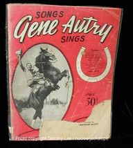 Gene Autry Sings Song Book 1942 - $16.99
