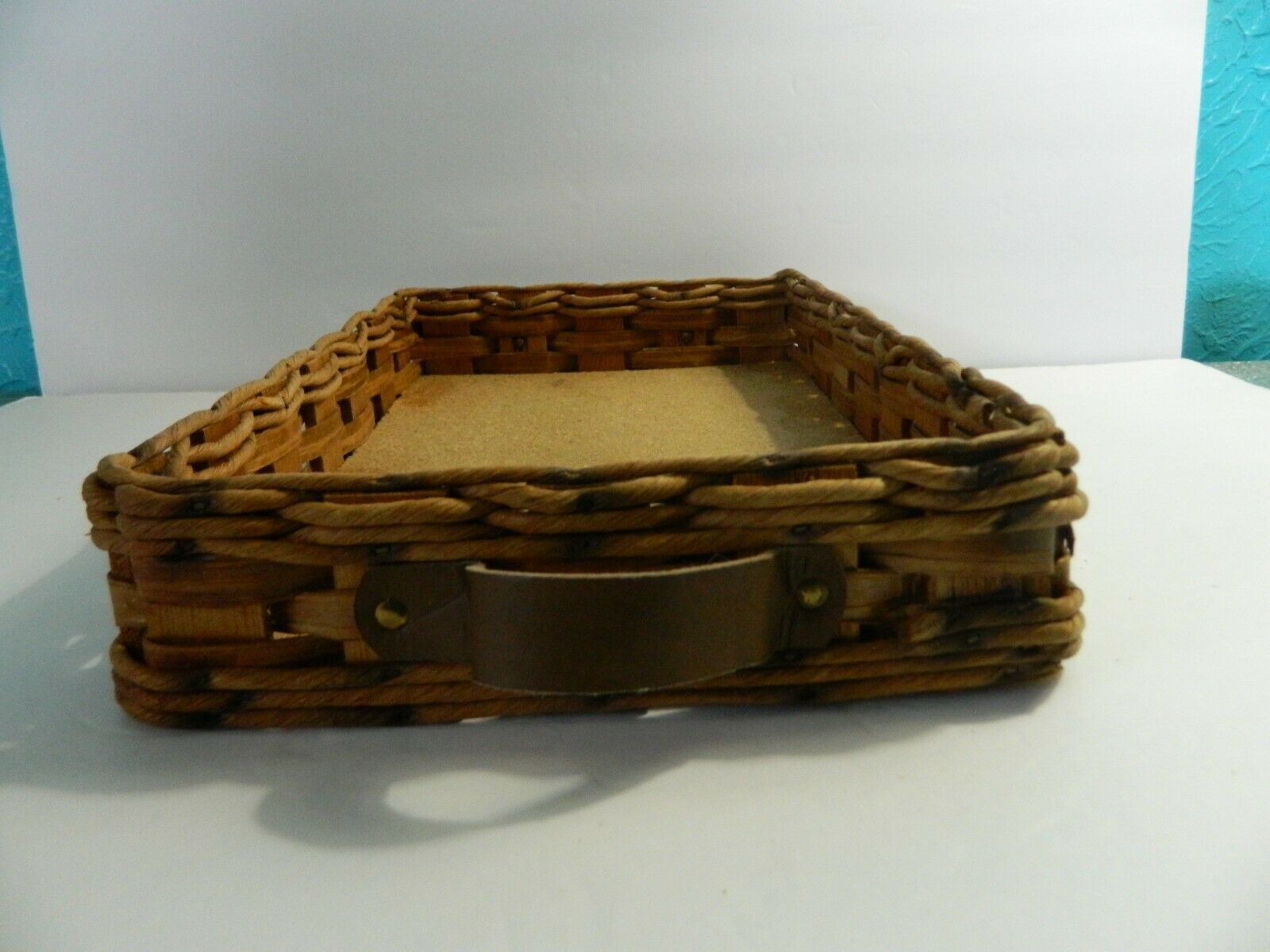 Vintage Pyrex Wicker Wood Long Casserole Dish Holder Cradle Fits 232 image 3