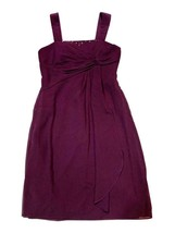 EUC David's Bridal Girls Junior Size 16 Plum Purple Short Formal Dress - $49.45