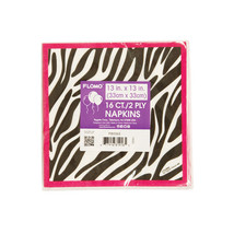 13 X 13/33Cm X 33Cm Zebra Printed Luncheon Napkins/Case of 288 - $74.25