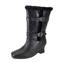 PEERAGE Rihanna Women Wide Width Fleece Lined Leather Boots and Side Zipper - $107.95