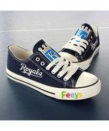 Kansas city royals shoe womens kc royals sneakers baseball fashion birth... - $55.99