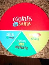 """New 11"""" Diam Cookies for Santa Claus Clause Hard Plastic Plate - $7.69"""