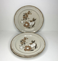 Hearthside Baroque Autumn Fair Stoneware Floral Dinner Plates 10 3/4'' Lot Of 4 - $22.62