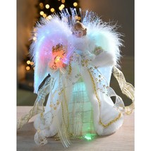 Christmas Fibre Optic Tree Top Topper Angel With Feather Wings Decoratio... - £28.19 GBP