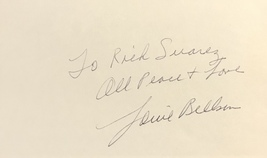 Louie Bellson Autographed Hand Signed 3x5 Index Card Jazz Drummer w/COA - $19.99