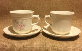 Pfaltzgraff Tea Rose Cups and Saucers 2 sets 4 sets available combined shipping - $9.99