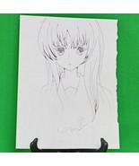 Original Signed Anime Art By April - Pencil Sketch, 9 X 12, No Title - $3.95