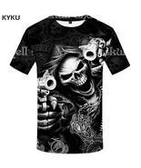 KYKU Brand Skull T Shirt Skeleton T-shirt Men Tshirt Gothic Shirts Punk ... - $22.90