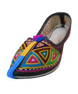 Women Shoes Indian Handmade Leather Jutti Pointy Flats Mojari US 9  - $29.99