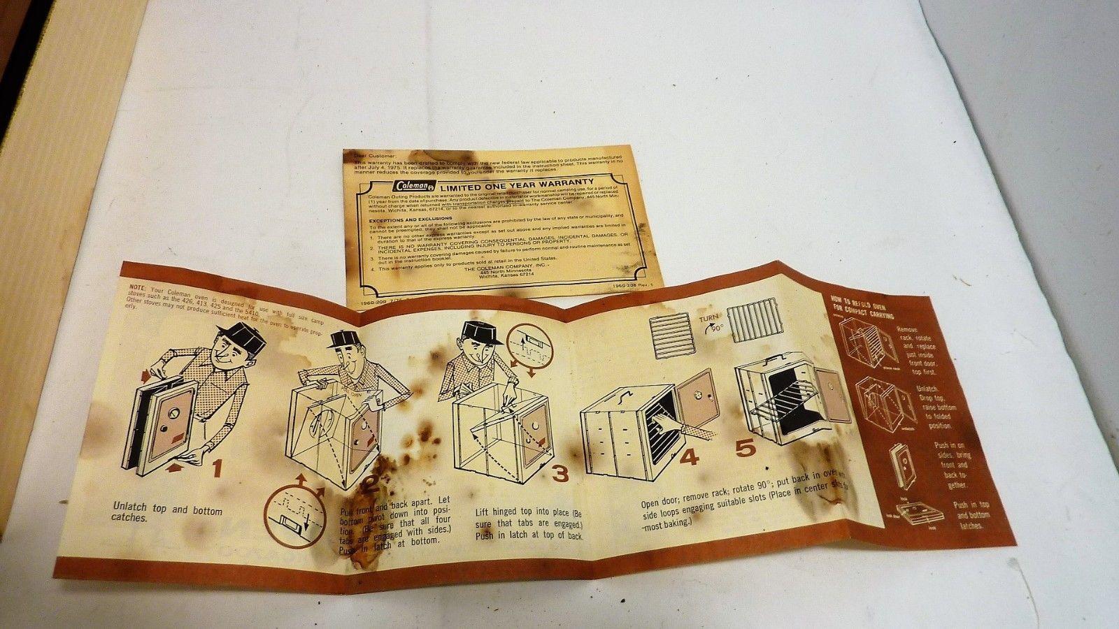 Vintage Coleman Folding Camp Oven Original and 14 similar items