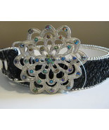 Sequin And Beaded Belt With Crysal Embellished ... - $17.00