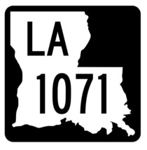 Louisiana State Highway 1071 Sticker Decal R6327 Highway Route Sign - $1.45+