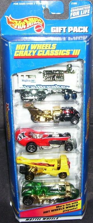 Hot Wheels CRAZY CLASSICS III 5 Pack Diecast Gift Set NIB 19 Bonanza