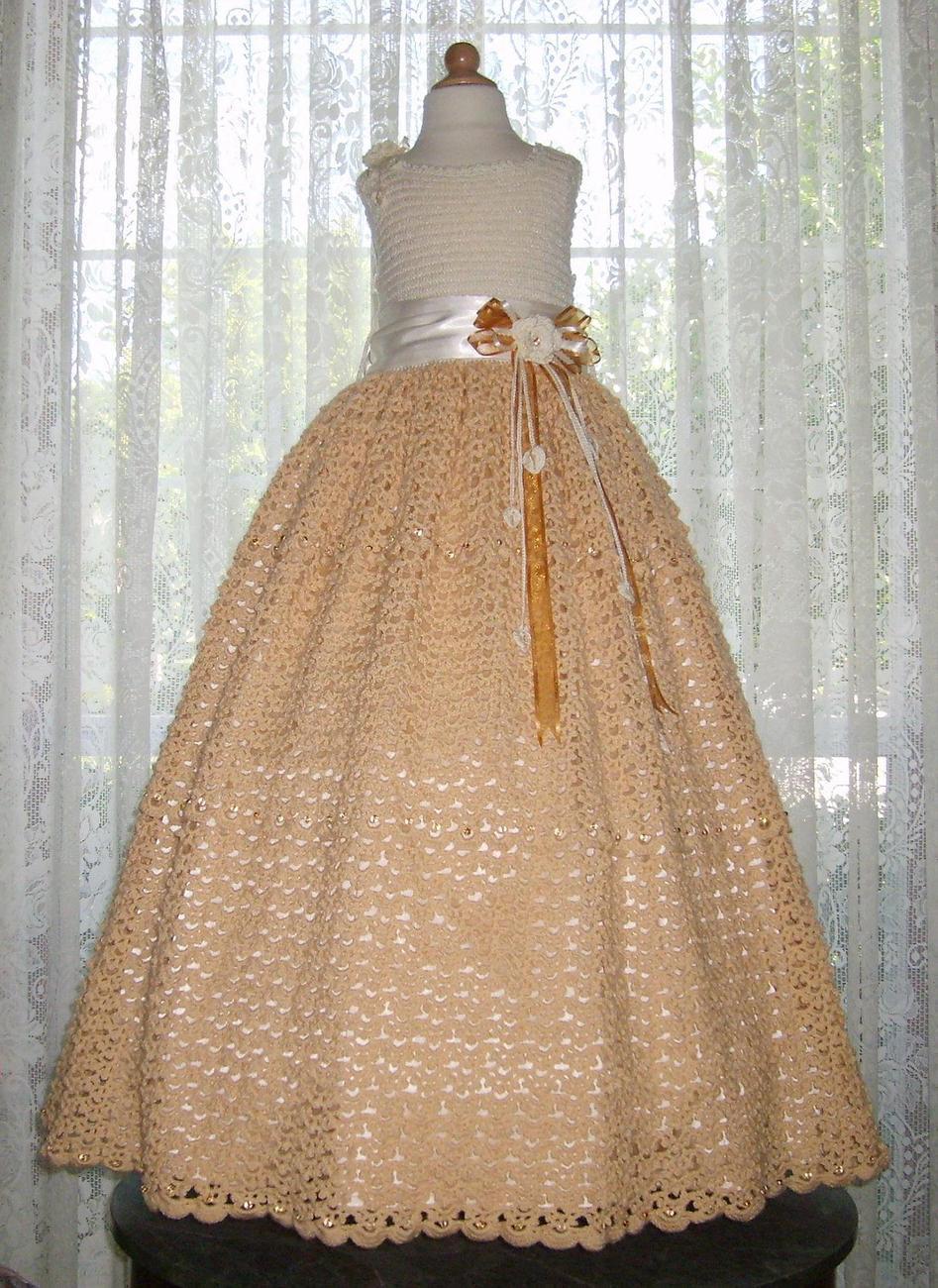 Crochet Pattern For Flower Girl Dress : Children Special Occasion Dresses Crochet PDF e Pattern ...