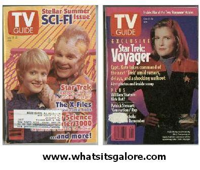 2 different STAR TREK VOYAGER TV Guide back issues Bonanza