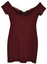 Lulus Women's Maroon Cheers to This Off-the-Shoulder Bodycon Dress Size S image 2
