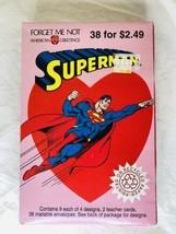 Vintage 1993 Superman Valentine Cards American Greetings Forget Me Not - $11.88