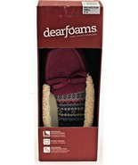 Dearfoams Women's Indoor/Outdoor Slipper Plum Size Small 5/6 New Free Sh... - $19.79