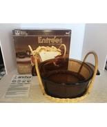 Anchor Hocking Entrees Amber Cuisine 2 Qt. Deep Casserole Set M1400/228 - $5.00
