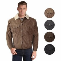 Men's Premium Classic Button Up Fur Lined Corduroy Sherpa Trucker Jacket M0323