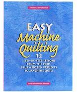 Easy Machine Quilting Jane Townswick Rodale Craft Book HC Quilt Patterns - $6.50