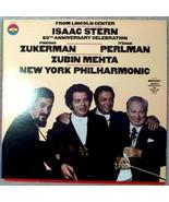 Isaac Stern 60th Anniversary Celebration Pinchas Zukerman Itzhak Perlman LP - $12.86
