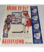 1940 Life Magazine Kelvinator Ad PM Whiskey Ad - $7.50