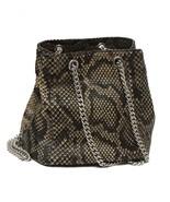 Saint Laurent Women's Emmanuelle Python Leather Bucket Chain Bag 425068 - $2,500.00