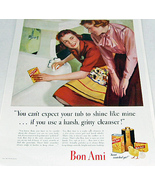 1941 Womans Home Companion Cover w Puppy and Bon Ami Ad Reve - $8.50