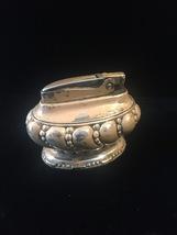 Vintage 40s Ronson Crown Silver-plated Desk Lighter