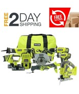 18-Volt ONE+ Lithium-Ion Cordless Combo Kit Woodworking Carpenters Tools... - $445.49